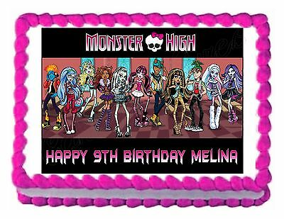 Monster High Edible Cake Decorations (MONSTER HIGH edible party cake topper party decoration cake image frosting)