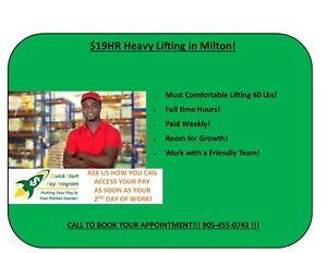 $19/HR HEAVY LIFTING! James Snow Parkway/ Highway 25!