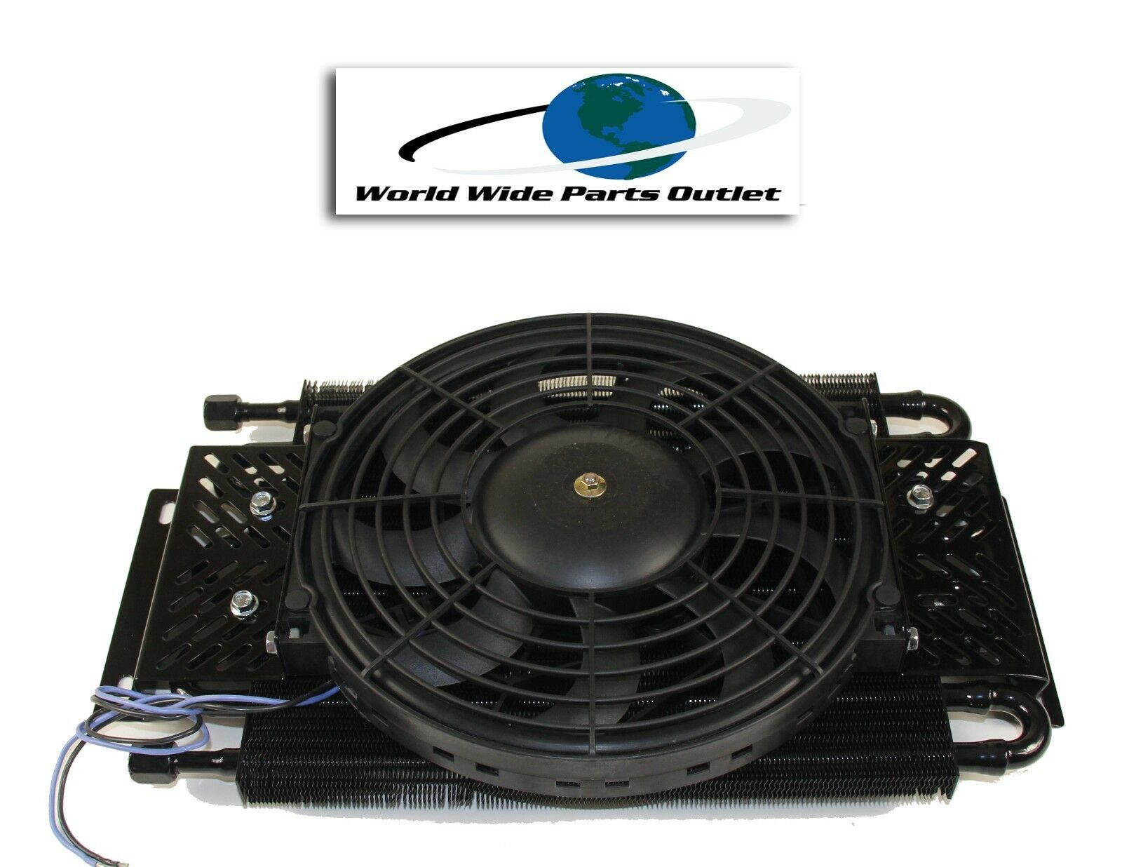 Hayden Transmission Oil Cooler : Hayden remote transmission oil cooler with fan plate