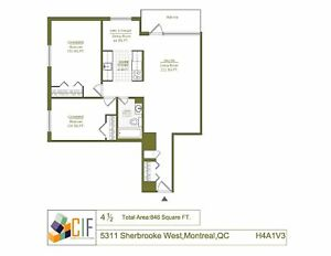 Spacious 4.5 available April - VENDOME - NDG - SHERBROOKE W