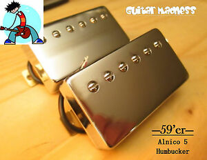 G.M. 59'er Chrome Alnico 5 Humbucker Set