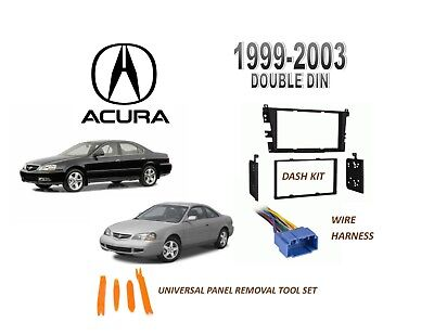 NEW Fits ACURA 1999-2003 TL, 01-03 CL STEREO DASH INSTALL KIT, with WIRE HARNESS