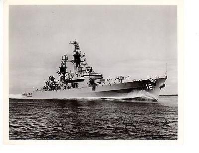 USS Leahy DLG-16 CG-16 Destroyer Navy Ship Original 8x10 1962