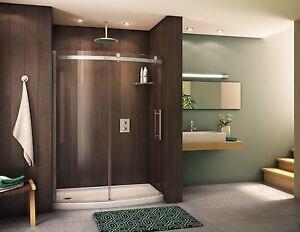 Curved shower door ebay fleurco 57 58 x 75 novara bowfront 516 glass curved frameless shower door planetlyrics Image collections
