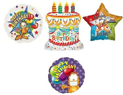 Caterpillar Party Supplies (GARFIELD 4 pc. Birthday Party Balloons Decoration Supplies Cat Cake)