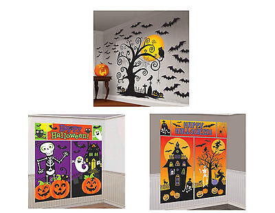 ER WALL DECORATIONS - HAUNTED HOUSE, SPOOKY TREE, CEMETERY (Tree Scene Setter)