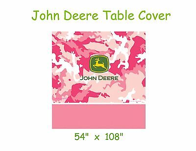 John Deere Table Cover, Pink Camo Plastic 54