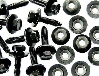 Body Bolts & Barbed Nuts- M6-1.0 x 25mm Long- 10mm Hex- 40 pcs (20ea)- G#122F