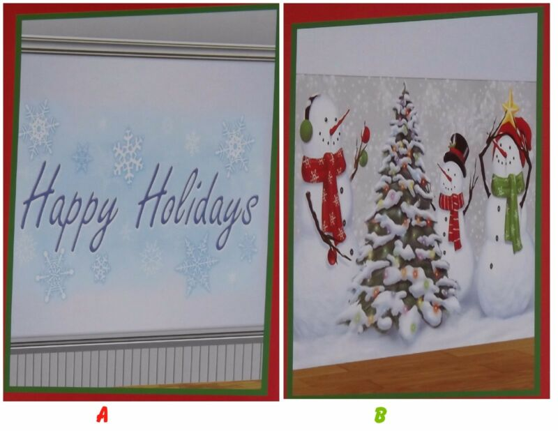 Christmas Wall Murals, Scene Setters, Photo Props, Door Covers, Party Decor  1pc