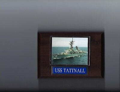 USS TATTNALL PLAQUE DDG-19 NAVY US USA MILITARY SHIP GUIDED MISSILE DESTROYER