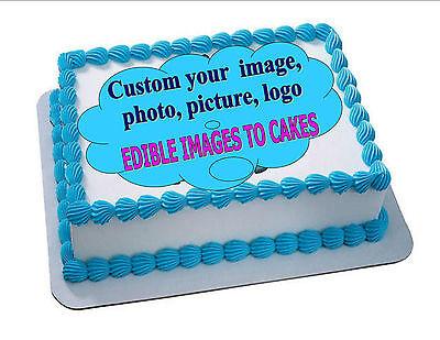 EDIBLE CAKE PHOTO IMAGE PERSONALIZED/CUSTOM - ANY IMAGE (ENGLISH/SPANISH)  (Custom Cake Topper)