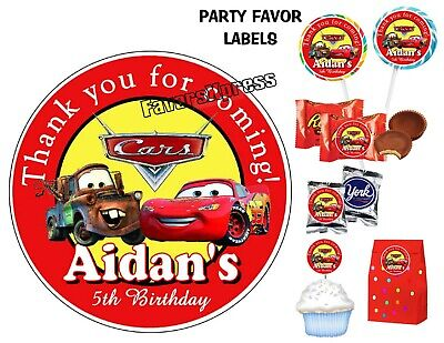 Disney Birthday Parties (DISNEY CARS BIRTHDAY PARTY FAVORS STICKERS for FAVORS)
