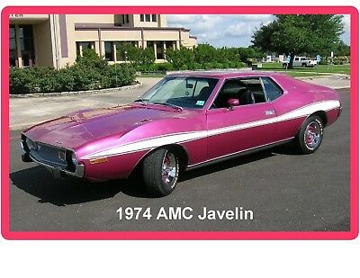 1974 AMC Javelin Auto Refrigerator / Tool Box Magnet