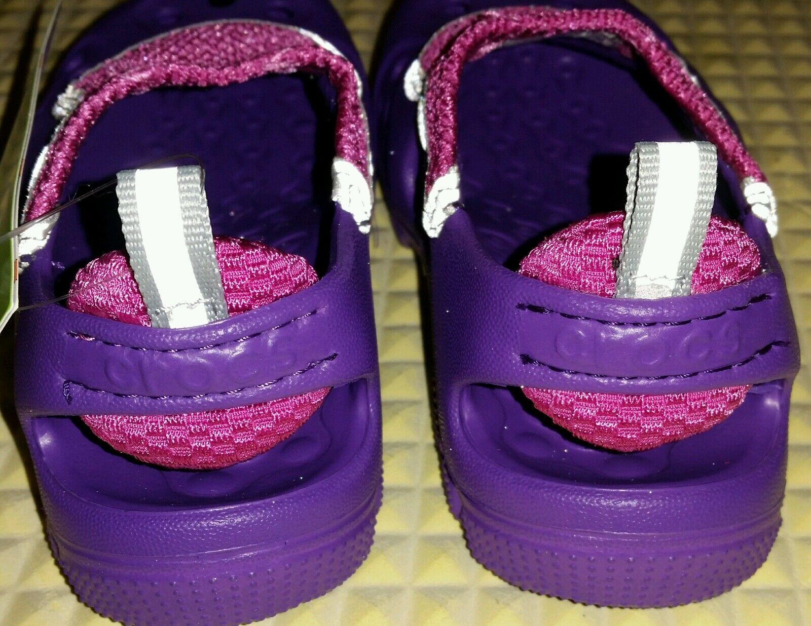 NEW Crocs Purple Pink Micah II Water Beach Shoes Girl's Sz 8/9 -  FREE SHIPPING 1