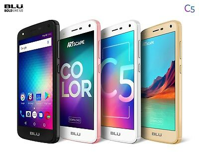 Blu C5 Android Cell Phone Factory Unlocked Dual Sim 4G Smartphone 8Gb Memory Rom