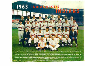 1963-INDIANAPOLIS-INDIANS-8X10-TEAM-PHOTO-BASEBALL-SCORE-HACKER-HORLEN-BEARD