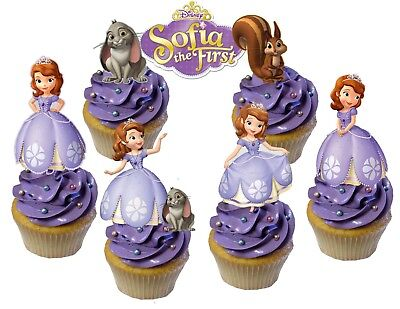 Sofia The First Cupcake Toppers (Disney Princess Sofia the First Cupcake Topper)