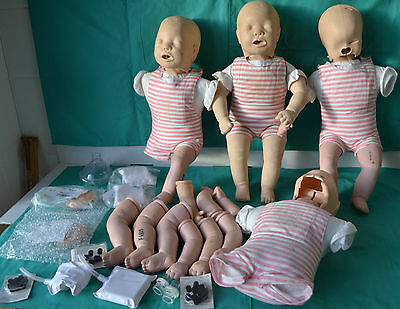Laerdal Resusci Baby Anne 4-pack Cpr Manikins In Bag - Incomplete