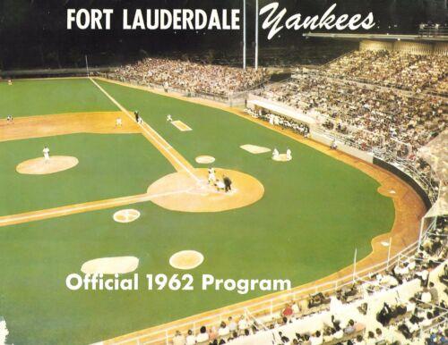 1962 Ft. Lauderdale Yankees-Tarpons FSL Program Roy White Mike Hegan NICE!!