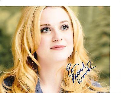 Evan Rachel Wood Signed Blonde Hair 8X10