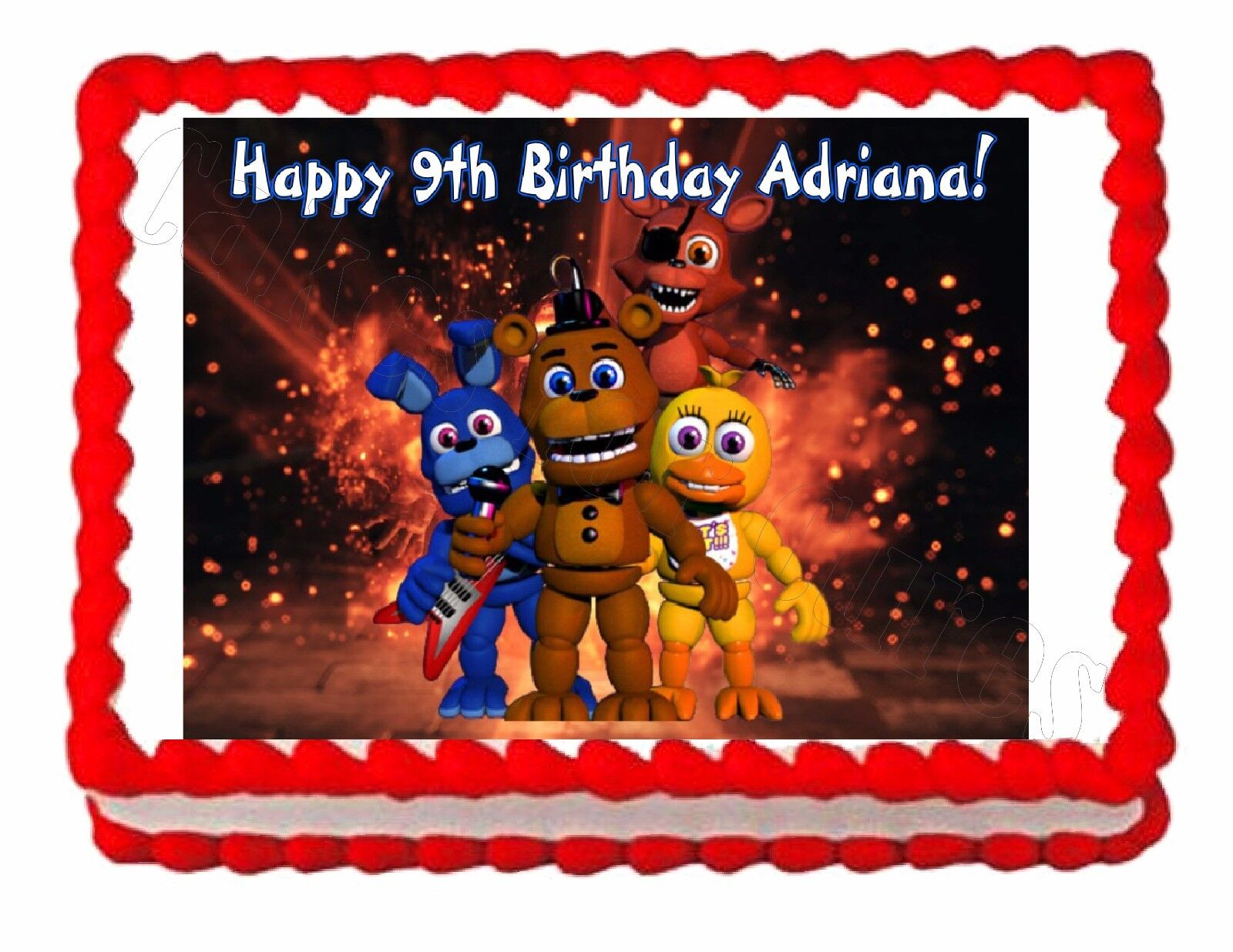 Five Nights At Freddy S Fnaf 2 Party Edible Image Cake