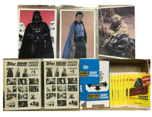 Star Wars The Empire Strikes Back Topps Giant PhotoCard Set 30+ Packet 1980
