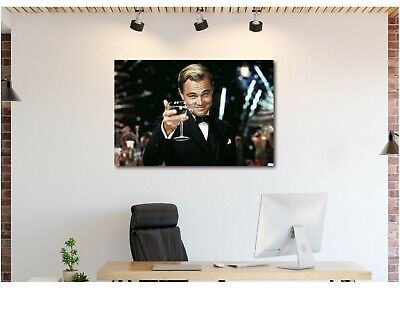 LEONARDO DiCAPRIO Portrait Canvas Print Wall Art, Great Gatsby Pop Framed Print