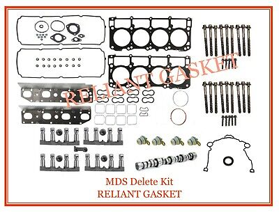 09-16 FITS DODGE RAM 5.7 HEMI MDS DELETE KIT GASKETS CAM LIFTERS BOLTS + PLUGS