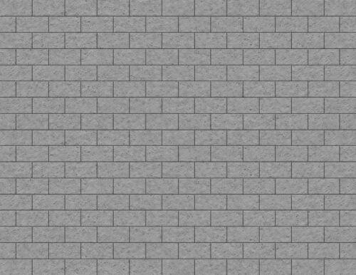 G Scale Stone Blocks Model Train Scenery Sheets –5 Seamless 8.5x11