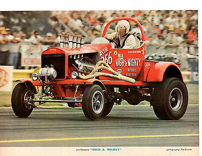 1966 JIM PARSONS  ~  FUEL ALTERED DRAG RACING  ~  NICE MAGAZINE PHOTO / PICTURE
