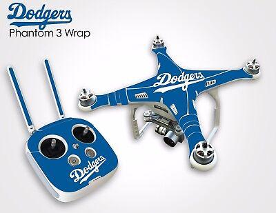Dodgers Drone Pellicle Vinyl Wrap DJI Phantom 3 Professional/Advanced Quadcopter UAV