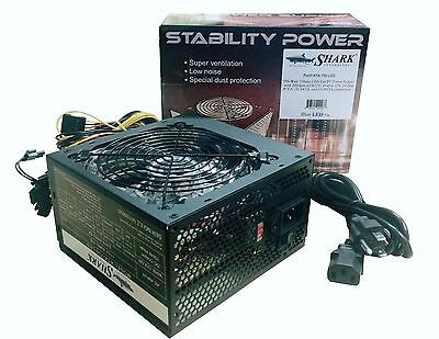 NEW! Stability Power 750W ATX Gaming Computer Supply Intel Core i3/i5/i7 6/8-pin