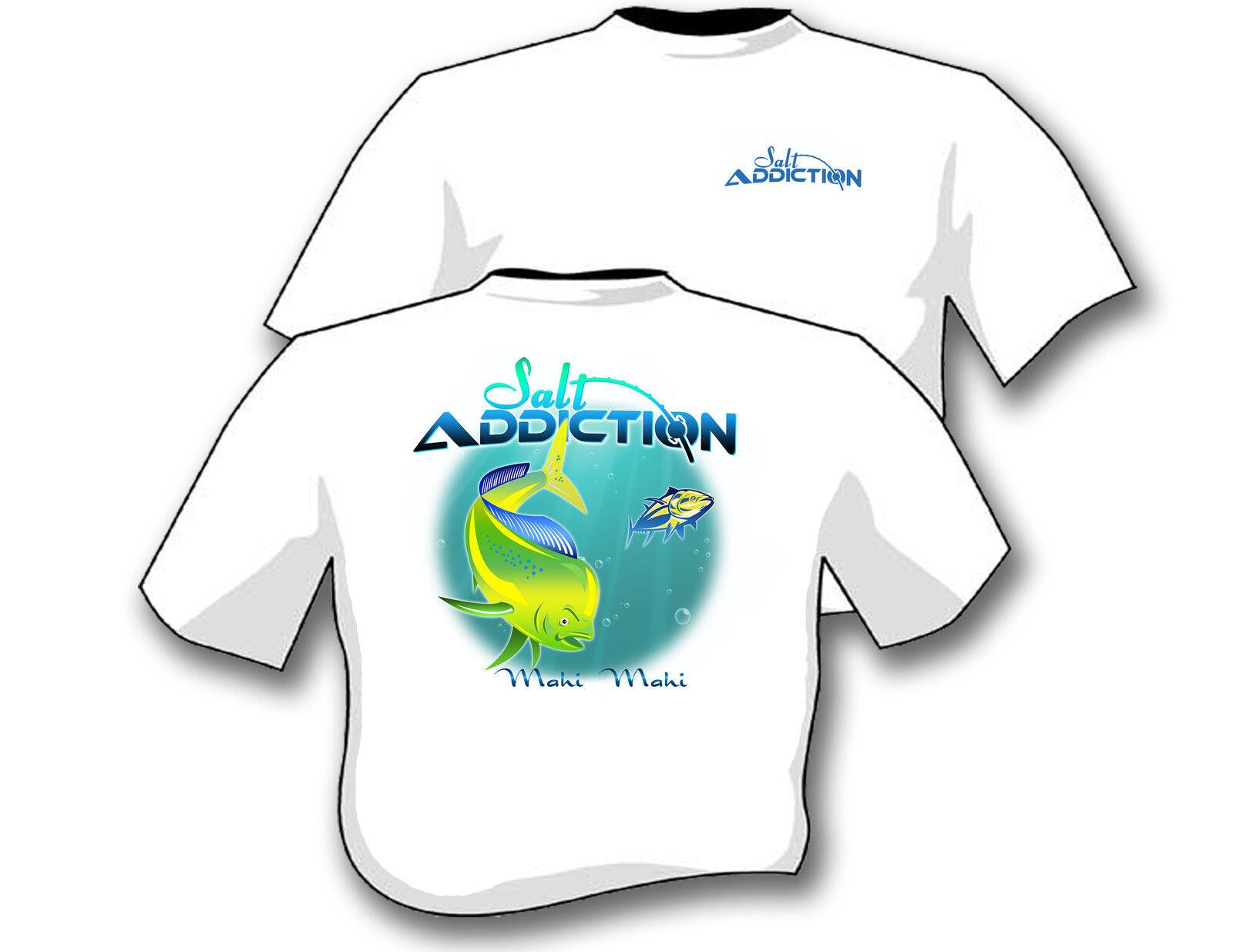 Salt addiction fishing t shirt saltwater shirt ocean fish for Custom saltwater fishing shirts