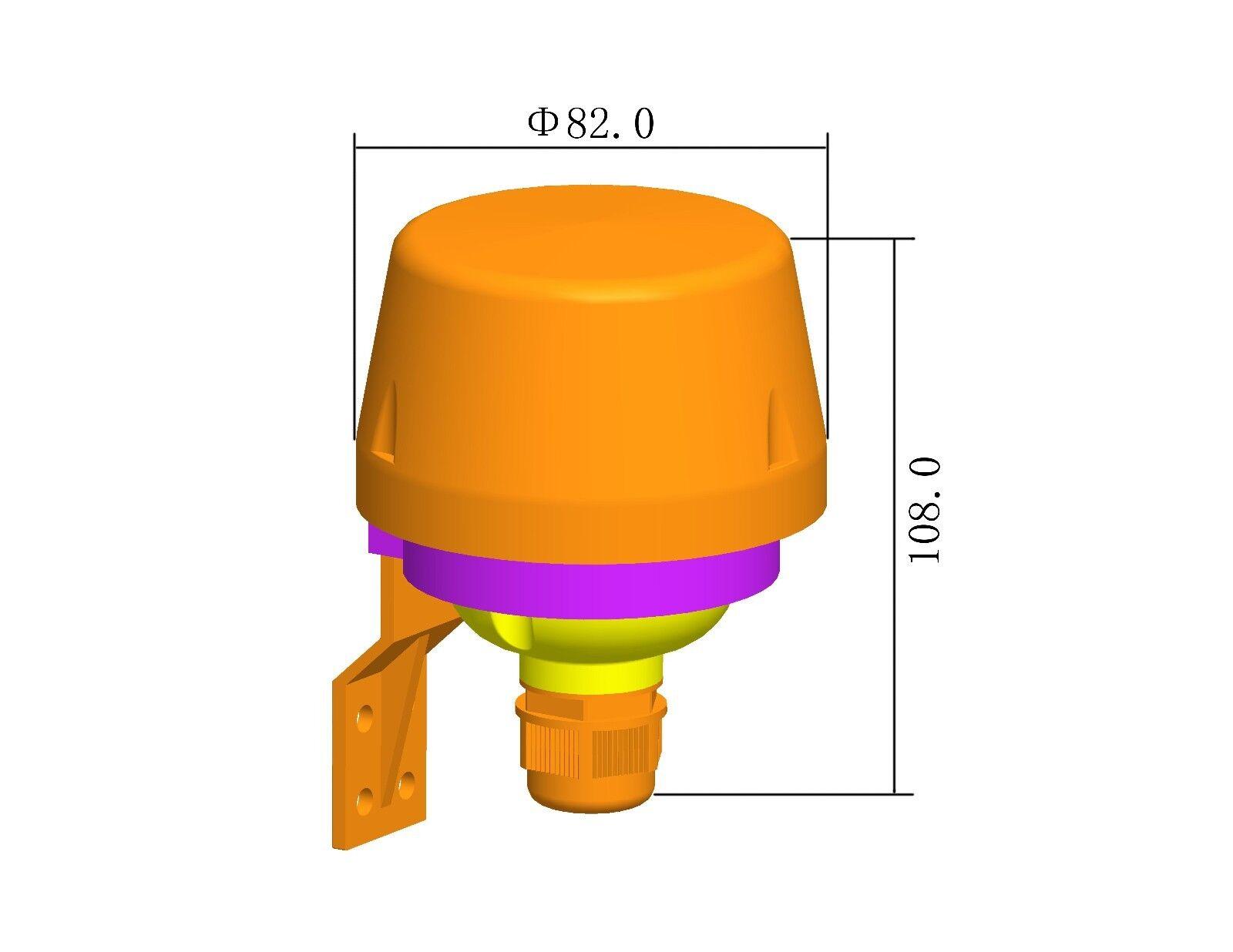 Photocell 20a Outdoor Ip44 Light Control Switch Dusk Till