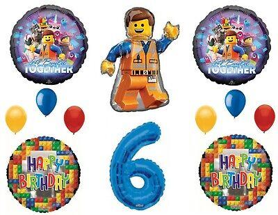 Legos 2 Movie 6th Birthday Party Balloons Decoration Supplies Sixth … - Lego Birthday Party Decorations