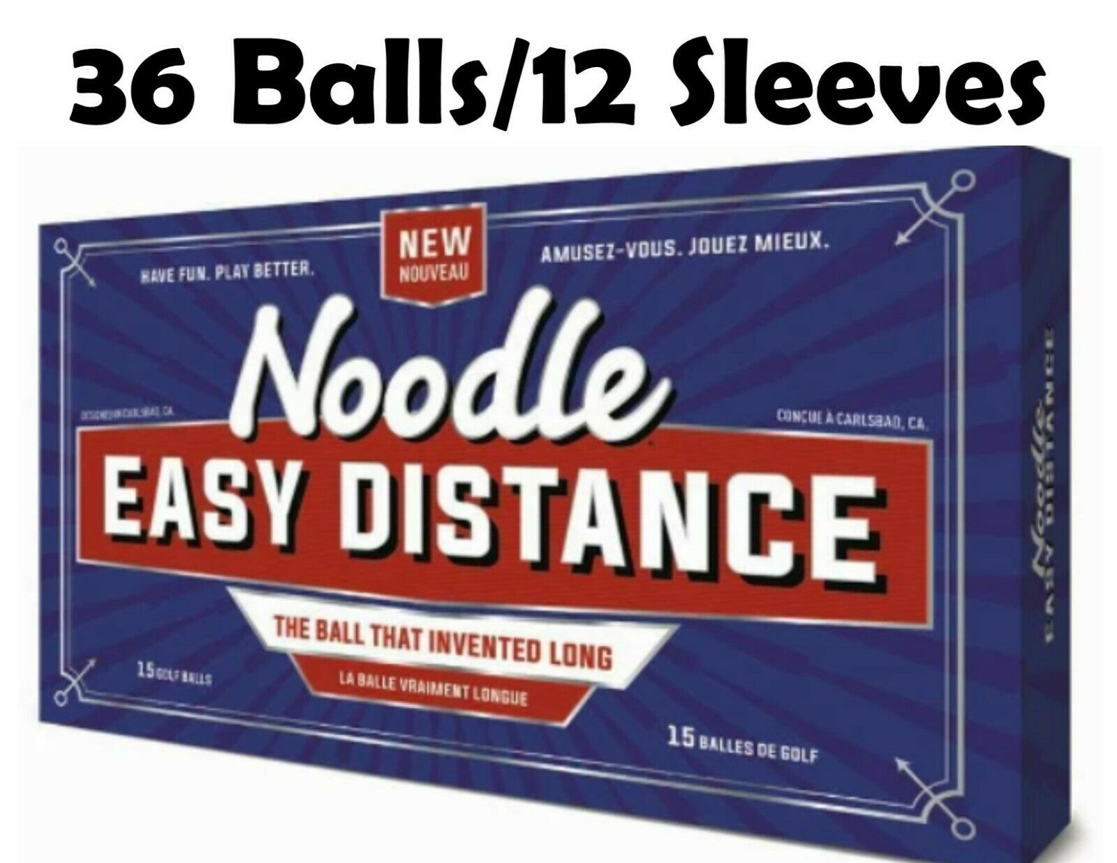 Noodle Easy Distance Golf Balls TaylorMade  ~12 Sleeves ~ 36