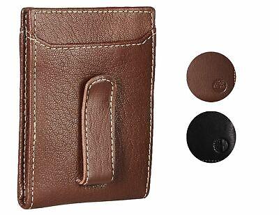 Timberland Men's Premium Genuine Leather Money Clip Credit C