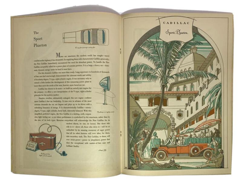 1928 CADILLAC CAR AUTOMOBILE Prestige BROCHURE ORIGINAL