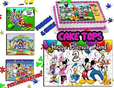 (Mickey mouse clubhouse Birthday Cake topper Edible Icing Image sheet sugar photo)
