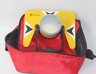 Yellow Metal Prism Set Wbag For Topcon Nikon Sokkia Pentax Total Station Survey