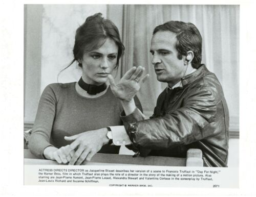 Press Release Photo Jacqueline Bisset and Francois Truffaut, Day For Night Movie