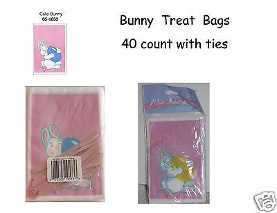 Easter Treat Bags, 40 Bunny Print 4