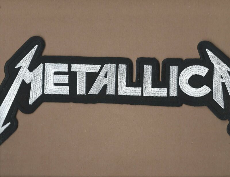 NEW 7 1/4 X 15 1/4 INCH METALLICA WHITE IRON ON PATCH FREE SHIPPING