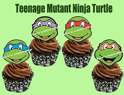 Teenage Mutant Ninja Turtles Cupcake Topper - Ninja Turtle Cake Topper