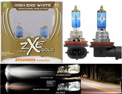 Sylvania Silverstar ZXE Gold H11 55W Two Bulb Head Light Replace Motorcycle Bike