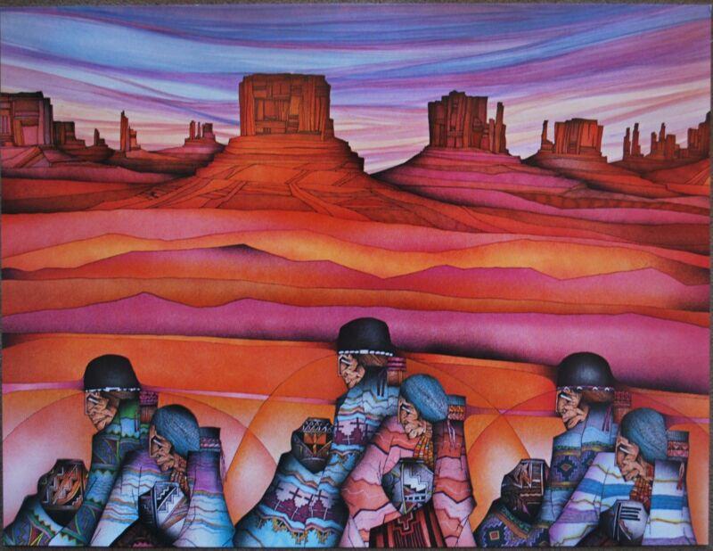 "Amado Pena Mini Prints ""Artesana Del Valle"" 1986 (7730) SIGNED 8x10"