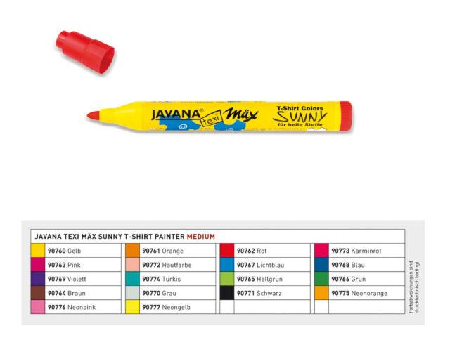Stoffmalstifte 18 Farben!!  Stoffmalfarbe, Stoffstifte, Stoffmalstift Javana