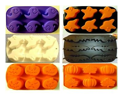 * HALLOWEEN SILICONE CUPCAKE PAN BAT GHOST LEAF PUMPKIN JACK-O-LANTERN WITCH HAT - Witch Hat Cupcakes
