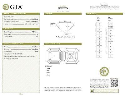 2.40 ct Asscher Cut Diamond 18k Yellow Gold Studs Earring, G VS1 GIA certificate 2