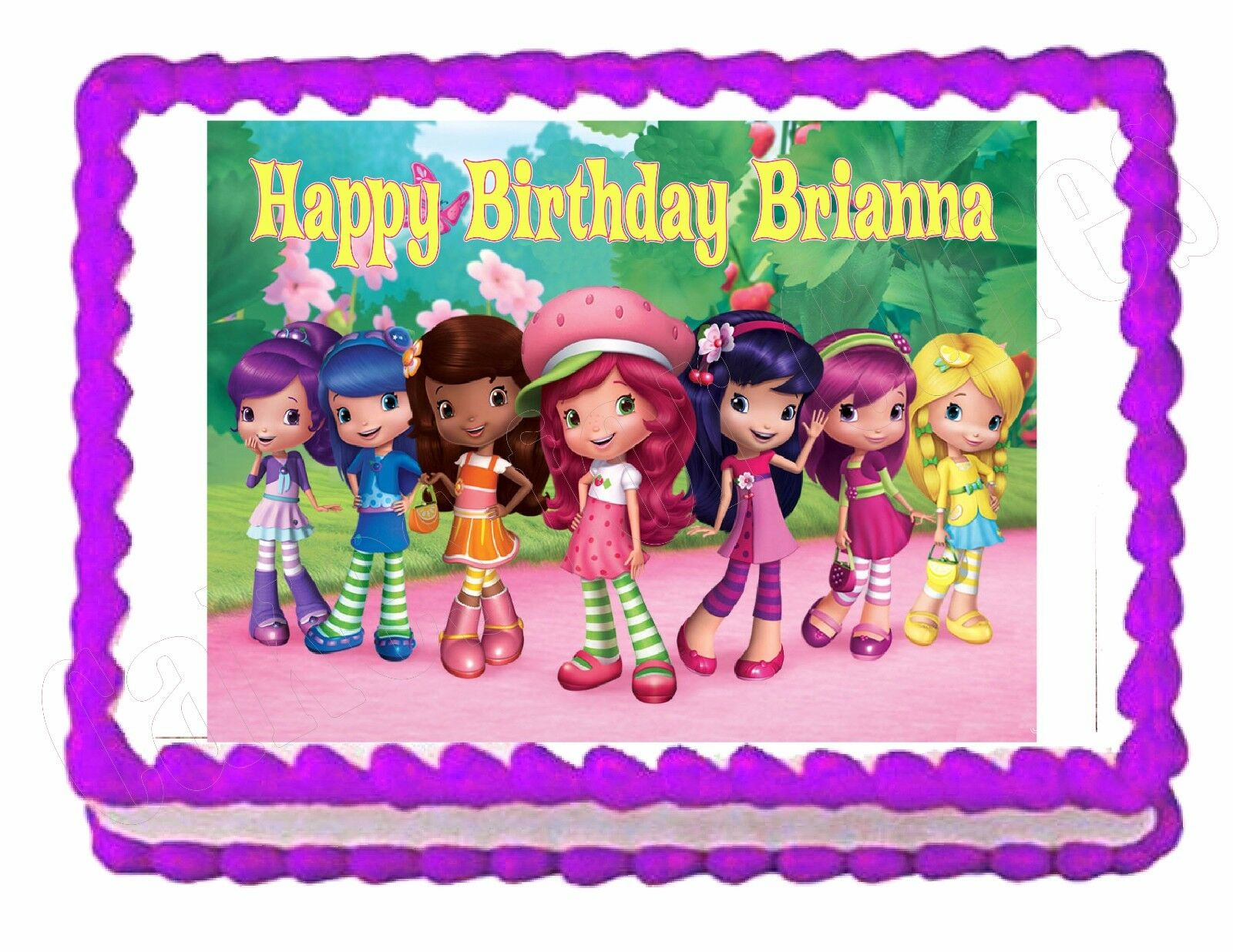 Strawberry shortcake and friends cake decoration edible for Angelina ballerina edible cake topper decoration sale